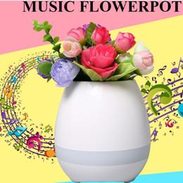 Wholesale Led Pot Lights Wholesale - New Music Flower Pot with LED Light Bluetooth Speaker 2017 Trending Product Green Plant Smart Touch Sensitive Flowerpot