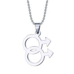 2019 gioielli orgoglio Moda maschile Logo Gay Pride gioielli ciondolo in acciaio inossidabile 316l collane gioielli gay PPN-001 sconti gioielli orgoglio