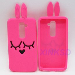 Wholesale Optimus One - Squinting Rabbit Cases For LG Optimus G2 G3 G4 For Alcatel One Touch Pop C7 For Sony Xperia Z Z1 Z2 C T2 Soft Silicone Cases