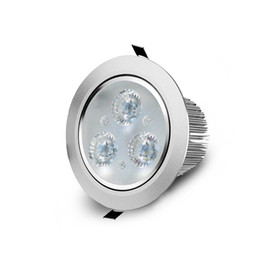Wholesale 3w Celling Led Light - Wholesale- 5Pcs 3W 85-265V LED celling Spotlight with radiator Driver LED Recessed downlight Bulb spot Light Wall Down light Ceiling Lamp