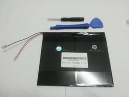 Wholesale Hkc Tablets - 3.7V 8000mAh polymer lithium ion  Li-ion battery for tablet pc,MID,PDA,DIY for Sanei N10 Ampe A10 Quad Core,HKC T90 Dual Core 3.5*112*135mm