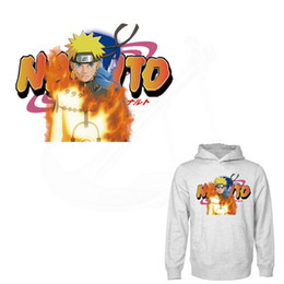 Wholesale Uchiha Hoodie - Popular anime Uzimaki Naruto Uchiha Sasuke Patches Iron-on Transfers Patches For Clothes DIY T-shirt Hoodies Stickers