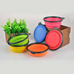 Wholesale Cat Feeding - Foldable Silicone Pet Bowl Practical Easy To Carry Dog Cat Bowls Feeding Water Silica Gel Pets Supplies For Travel 2 3sr B