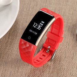 Wholesale S2 Bluetooth - S2 Bluetooth Smart Band Wristband Heart Rate Monitor IP67 Waterproof Smartband Bracelet For Android IOS Phone
