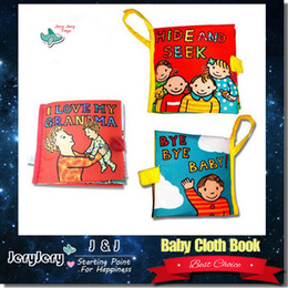 Wholesale Educational Cloth Books - Infant Baby Cloth Book Kids Baby Crib Toy Learning And Developmental Ability Pram Book Educational Intelligence Toy
