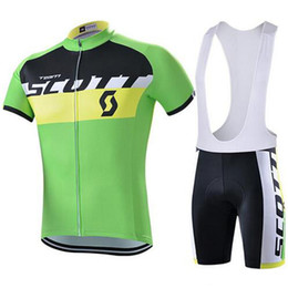 Wholesale Scott Mountain - SCOTT Pro Cycling Jersey Set Bicycle Clothing Breathable Mountain maillot ciclismo Bike Clothes Quick Dry Sportswear C2918