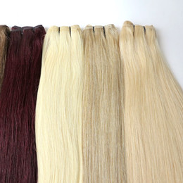 Wholesale Indian Remy Weave Shedding - Lasting 12Months Brazilian Hair Weaves Human Hair Wefts Full Cuticle Remy Indian Peruvian Malaysian No Tangle Shedding Hair Extensions