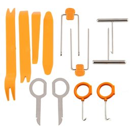 Wholesale Professional Car Kit - 12pcs set Professional Vehicle Dash Trim Tool Car Door Panel Audio Dismantle Remove Install Pry Kit Refit Set Repairing Tools