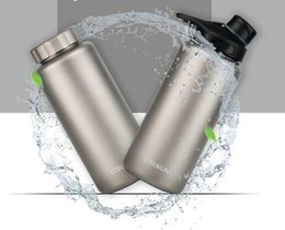 Wholesale Anti Surface - Pure Titanium Single Wall Straight Water Bottle 1050ml 263g Leakage-proof Anti-corrosion Matte Surface 2 Caps for Option
