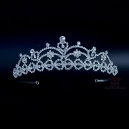 Wholesale Acessories Silver - Bridal Acessories Tiaras Weddings And Events Headpieces Miss Beauty Winner Queen Sweet Heart Beautiful Hairwear Porcelain Km168