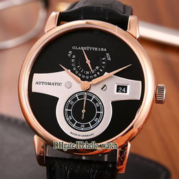 Wholesale Owl Black - Hot Sell New Luxury Brand High Quality GRAND LANGE1 Owl 140.021 115.026 Black Dial Automatic Mens's Watch Leather Strap Gents Watches