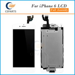 Wholesale Touch Button Free Shipping - For Apple iphone 6 LCD Display 4.7 inch Touch Screen Panel With Digitizer Full Assembly+Home Button + Front Camera Fast Free DHL Shipping