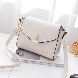 Wholesale Cross News - Wxx007 2017 The News Korean Version of Simple Shoulder Handbags Ladies Bag with Bead Embellishment and Iron decoration