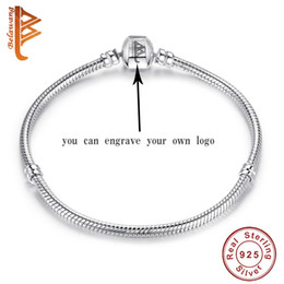 Wholesale Engraved Charms For Jewelry - BELAWANG 925 Sterling Silver Jewelry Necklaces Bracelet&Bangles Rings Engrave the Own Logo&Name to make the Unique Jewelry Only Fee for logo