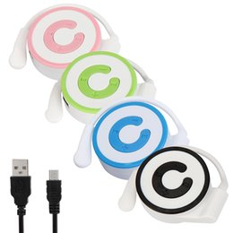 Wholesale Cheap Mini Watch - Wholesale- Mini MP3 Player Worn On The Ear Music Media Player USB Support TF Card Cute Cheap Low Price Player Enjoing Music Life Hillsionly