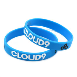 Wholesale Lol Hot - Hot Sell 1PC LOL Team Name Game Silicone Wristband Bracelet: Team Solomid SKT T1 Cloud9 Fnatic