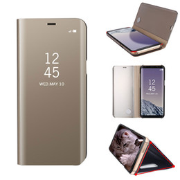 Wholesale Slimmest Iphone Folio Case - For Samsung Galaxy S8 Plus Luxury Slim Flip Folio Cover Case For IPhone 7 6s 6 plus samsung s7 edge note 5 Retailpackage