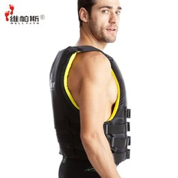 Wholesale Boating Vest - Wholesale- Professional Survival Vest for Fishing Swimming Boating Drifting Outdoor EPE 420D Nylon Adult Life Jacket Survival Suit