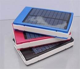 Wholesale External Backup Tablet - Wholesale - High Capacity solar Dual USB 30000mAh Solar Charger Portable External Backup Battery for Cell Phone Tablet MP3 1.5W Solar Panel