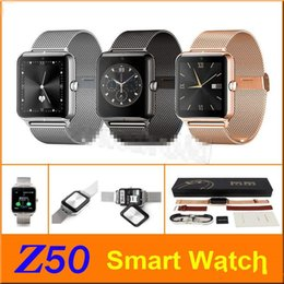 Wholesale German Internet - Bluetooth Smart Watch Z50 2G Internet NFC Support SIM TF Card Wearable Devices SmartWatch For Apple Android Phone T30