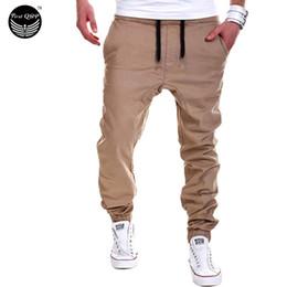 Wholesale Flat Pants - Wholesale-Mens Joggers Male Trousers Men Pants Mallas Hombre Elastic Cross Pants Sweatpants Jogger Black Pantalones 38 FJ