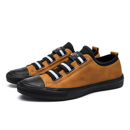 Wholesale Bee Board - New Sport Men Casual Low Little bee jogging Shoes PU Leather Mens Sneakers Lace-Up board shoes Running Shoes