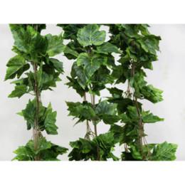 Wholesale Silk Grape Vines Garland - Wholesale 20PCS like real artificial Silk grape leaf garland faux vine Ivy home decor wedding flower green