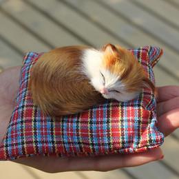 2019 mini auto di gatto Commercio all'ingrosso- Piccolo giocattolo di gatto di simulazione piccola Mini bambola di bambola di gatto Sleeping Brown regalo bambola regalo di circa 10 cm lungo mini auto di gatto economici