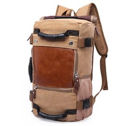 Wholesale high quality canvas bag men - Wholesale- DB27 Hot Sale High Quality Promotion Fashion Designer Vintage Canvas Big Size Men Travel Bags Large Capacity Luggage Backpacks