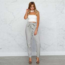 Wholesale Women Trouser Formal - Palazzo Pants Ladies High Waist Casual Harem Pants Women Summer Trousers Khaki Work Office Formal Pants Female
