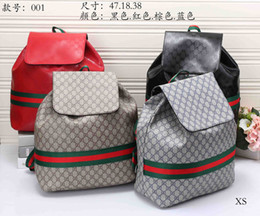 Wholesale Back Bags Men - 2018 Fashion Backpack Men Women Leather Bags Famous Brand Designer Back Packs Bag Embroidered Backpacks Ladies Bags g88 Cheap Sale