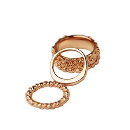 Wholesale Gold Knuckle Ring Set - 3pcs Set Finger Over The Midi Tip Finger Above The Knuckle Ring Women Rose Gold Carving Rings Fashion Anel Rock Jewelry