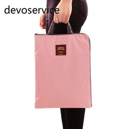 Wholesale A4 Paper Storage - Wholesale- Canvas A4 File Folder Document Bag Business Briefcase Paper Storage Organizer Bag Stationery School Office Supplies Student Gift