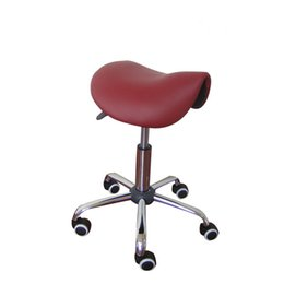 Wholesale Furniture Swivels - Rolling Massage Chair Saddle Stool Leather Upholstery Portable Pedicure Salan Spa Tattoo Facial Beauty Massage Swivel Chair
