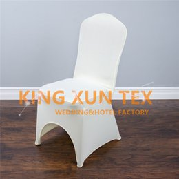 Wholesale Black Lycra Chair Covers - 20pcs Sold Lycra Spandex Chair Cover For Wedding Event Decoration Black&White&Ivory Color Choose For you Free Shipping