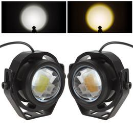 Wholesale Led Running Lights Inch - 2 Inch 12V-32V 1000LM 10W LED Eagle Eye Car Fog Daytime Running Reversing Backup Parking Signal Light Lamp CLT_428