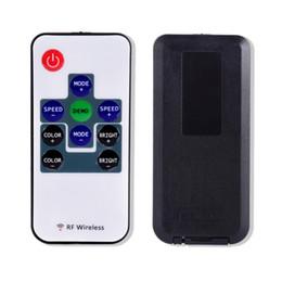 Wholesale 12v Light Strip Audio - Wholesale- Mini IR Remote Controller For 3528 5050 RGB LED Strip Light 12V New 10 Key