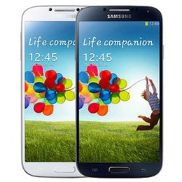 Wholesale S4 Quad Core 16gb - Refurbished Original Samsung Galaxy S4 i9500 i9505 5.0 inch HD Quad Core 1.9GHz Wifi 3G 4G Unlocked Smart Phone Original Battery DHL 5pcs