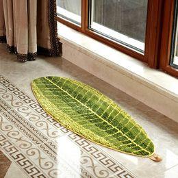 Wholesale Door Mat Living Room - leaves mat rugs Carpet High qulity ComfortableAbsorbent Slip-resistant Kitchen Rugs Door Bathroom Floor Mats 2017 new hot sale free shipping