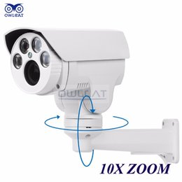 Wholesale New Ptz Ip Camera - 2016 New Arrival Real Cmos Owlcat Hi3516c+sony Imx322 Hd 1080p Ip Camera 10x Motorized Auto Zoom Varifocal 2mp Outdoor Ptz Ir Cut Onvif Rtsp