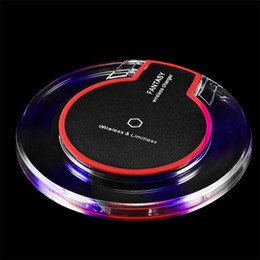Wholesale Original Iphone For Sale - On Sale Original Wireless Charging Pad Cordless Cell Phone Charger For Goophone S9 4g Lte Phone Iphone 7 Plus S7 Edge Huawei Cellphones