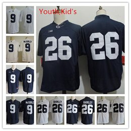 Wholesale White Football Jerseys Kids - Youth Penn State Nittany Lions Trace McSorley College Football Jerseys Kids NCAA #26 Saquon Barkley Penn State Nittany Lions Football Jersey