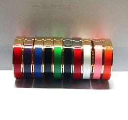 Wholesale Platinum Plated Silver Bracelet - Bracelets & Bangles titanium steel HOT new Jewelry Fashion h Bracelet High Quality 18K Gold rose silver 3clors Plated