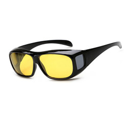 Wholesale Hd Vision Night Driving Glasses - Unisex HD Lenses Sunglasses Night Vision Goggles Driving Glasses UV Protection