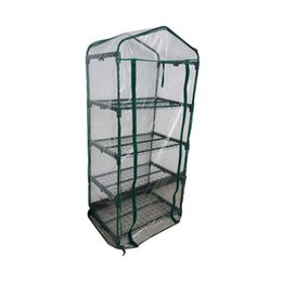 Wholesale Garden Sheds - Garden Greenhouse 4 Tier Portable Greenhouse Novel Green Plants Greenhouse Shed PVC Home Balcony Mini Green Plants House