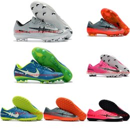 Wholesale Kids Winter Boots Boys - 2018 mens soccer cleats Mercurial Vapor XI FG turf indoor soccer shoes boys kids football boots cr7 Mercurical Victory VI TF IC youth pink