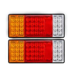 Wholesale Led Light Kits For Boats - 2pcs pair 44 LED Indicator Tail Light UTE Boat Trailer Truck Van For Camper Waterproof Kit Rear Light LED Taillight