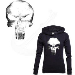 Wholesale Decorations For Shops - Punisher Skull Stickers 32*19.2cm Patch For Clothing A-level Washable DIY T-shirt Hoodies decoration free shopping