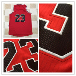 Wholesale Basketball Jersey Material - 2017 Newest Throwback 23 Jersey Red AU Edition Jersey Embroidery Logo #23 Retro Basketball Jersey AU Fabric material