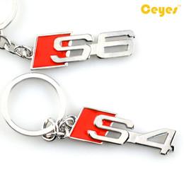 Wholesale S4 Key - Car Key Chain Logo S4 S6 Emblem Badge Car Keyring Cute Case for audi s3 s4 s5 s6 s8 Key holder Car Accessories